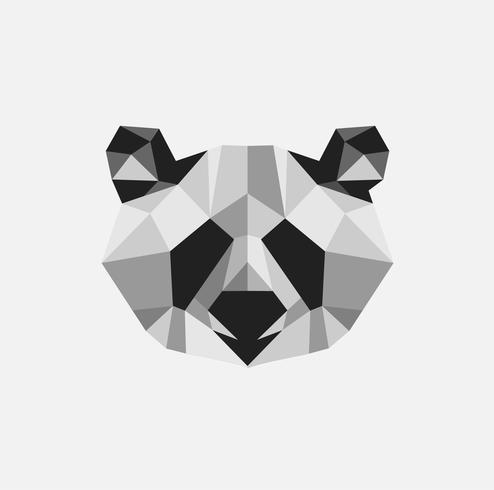 Panda minimal créatif illustration vectorielle art png