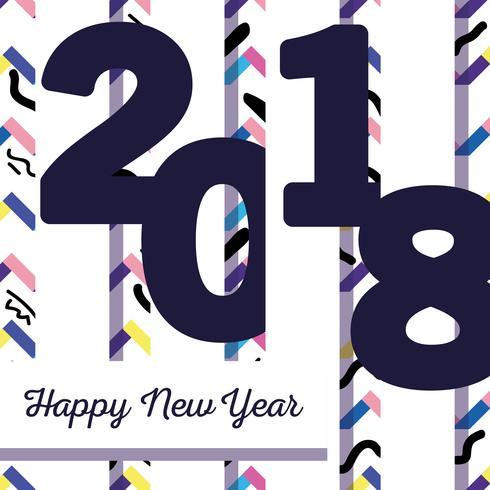 gott nytt år firande över siffror bakgrund