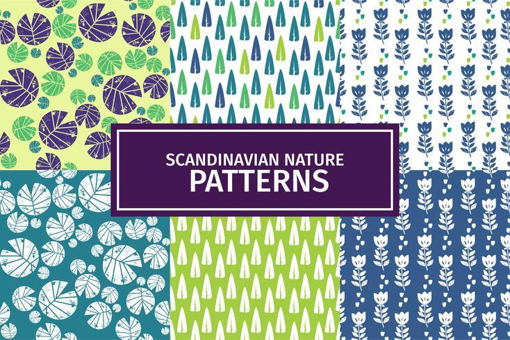 Conjunto de patrones escandinavos de naturaleza 01