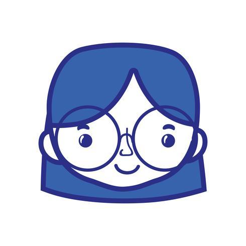 cabeça de mulher de avatar com design de penteado