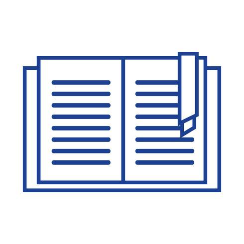 Libro de educación silueta objeto para aprender y estudiar.