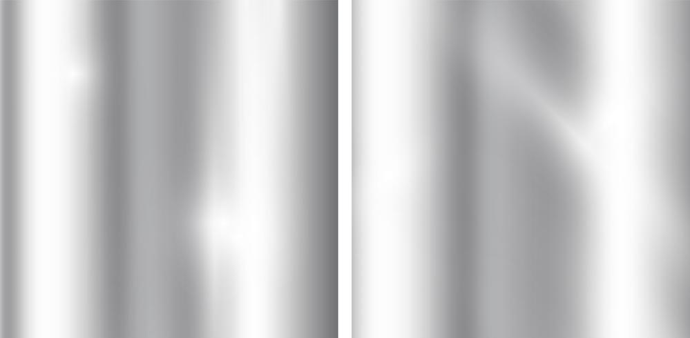 Sfondo sfumato d'argento. Realistica trama metallica. Modello elegante di luce e lucentezza.