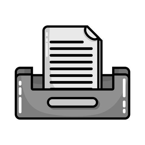 archivado en escala de grises archivo de documento diseño del gabinete vector