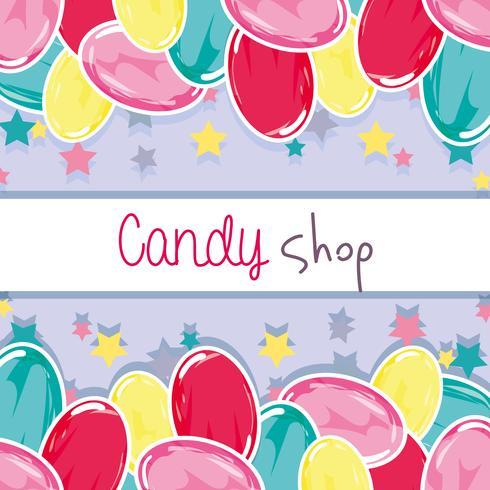 design fond délicieux bonbon sucré