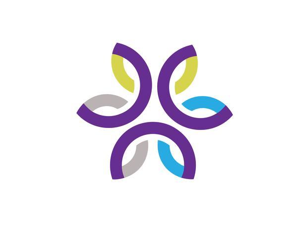 logotipo conectado geométrico criativo abstrato