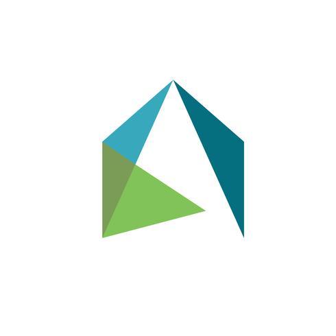 concepto de logo de casas coloridas logo de bienes raíces vector