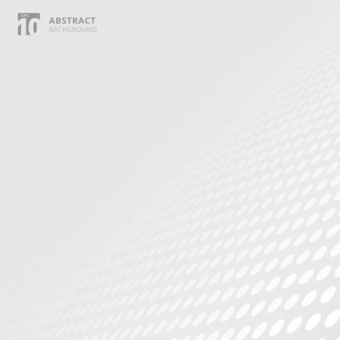Weißer und grauer Farbperspektivenhintergrund des abstrakten Kreismuster mit Kopienraum