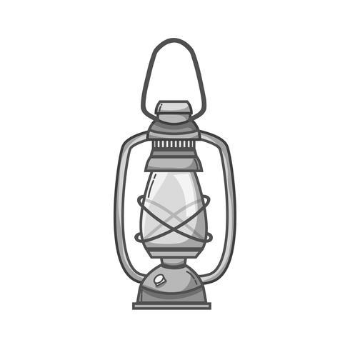 grijswaarden oude lamp hand retro-stijl