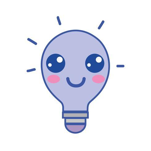 kawaii cute happy bulb idea