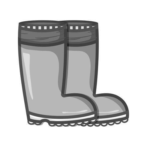 bottes en caoutchouc en niveaux de gris