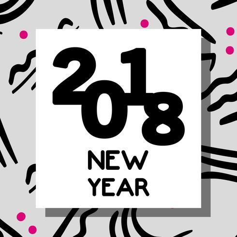 feliz ano novo celebração sobre fundo de figuras