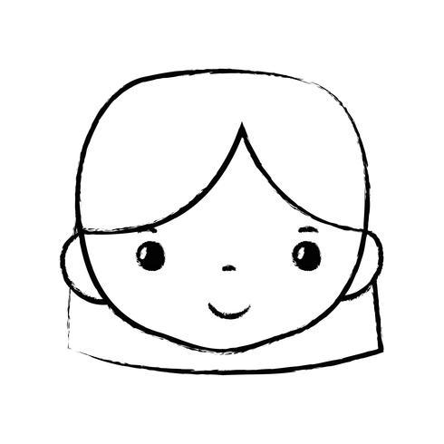 figur avatar kvinna huvud med frisyr design