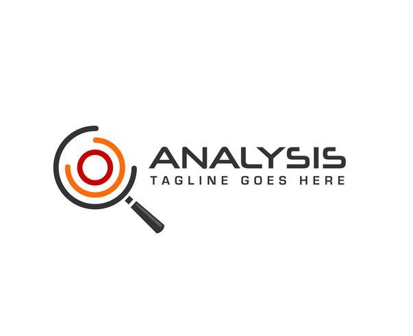 circle analysis search Magnifier logo