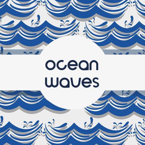 diseño de fondo de las olas del océano natural