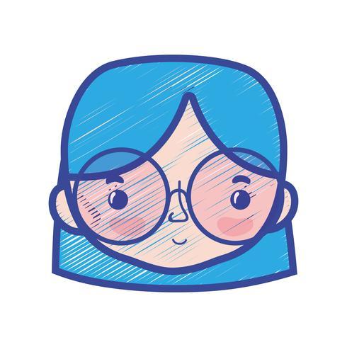 Avatar Frauenkopf mit Frisurendesign