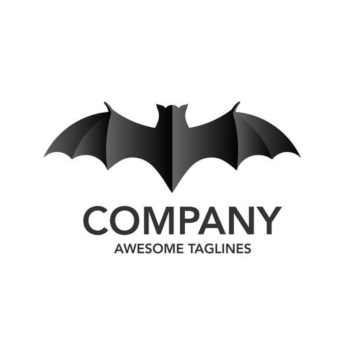 minimalist bat illustration logo