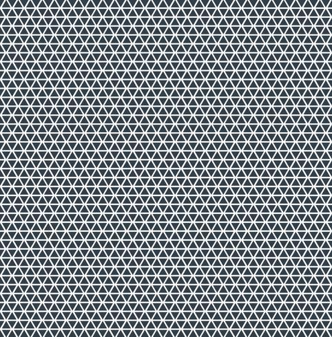 Blaue Farbe der abstrakten Dreieckmusterwiederholung auf weißem Hintergrund.