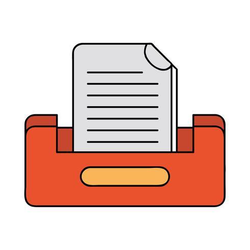 buciness document archiefkast ontwerp vector