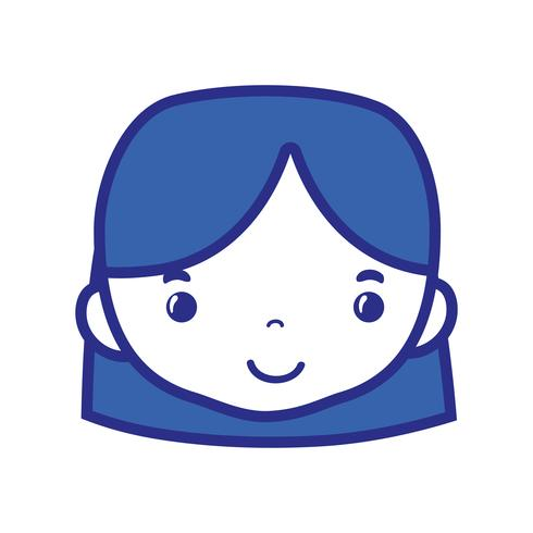 tête de femme avatar avec conception de coiffure