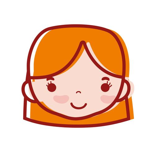 avatar kvinna huvud med frisyr design