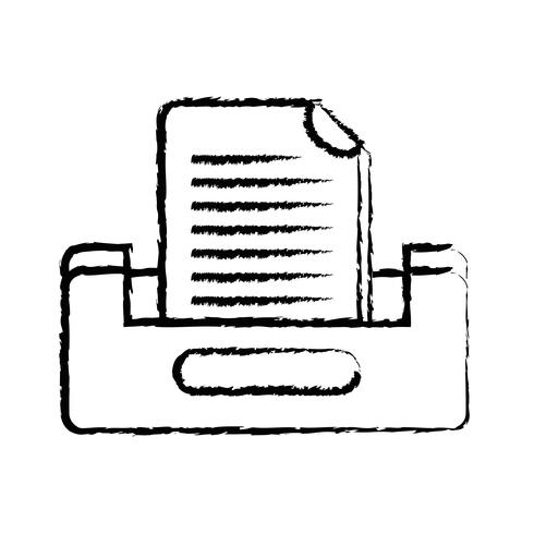 figuur buciness document archiefkast ontwerp vector