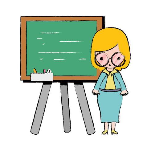 professor ensinando aula no backcoard