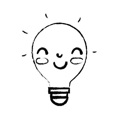 figure kawaii cute happy bulb idea