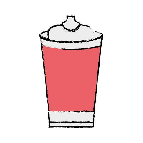 doodle delicious fresh soda plastic cup