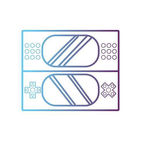 Consola de videojuegos de linea de tecnología vector