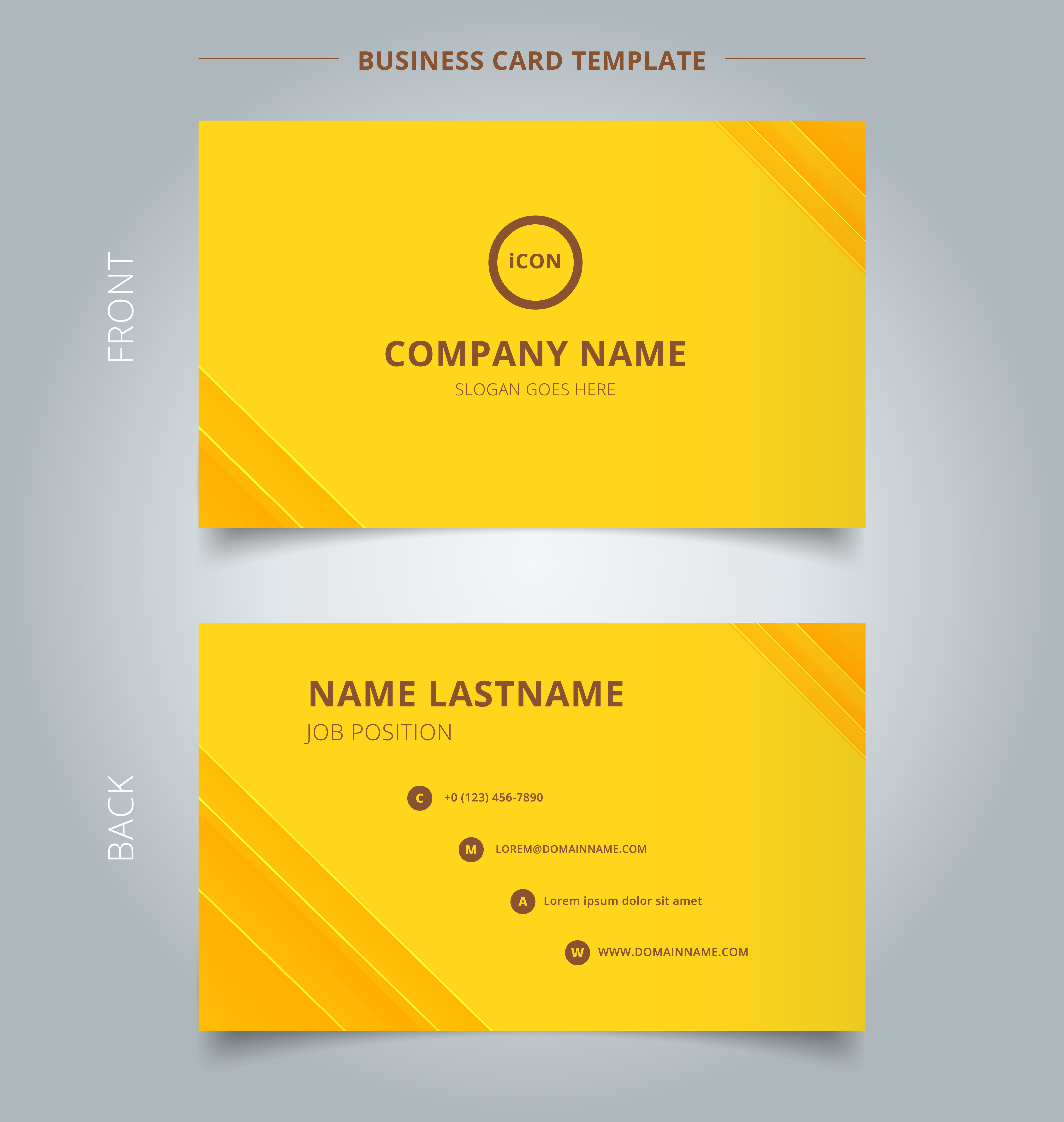 creative business card and name card template technology