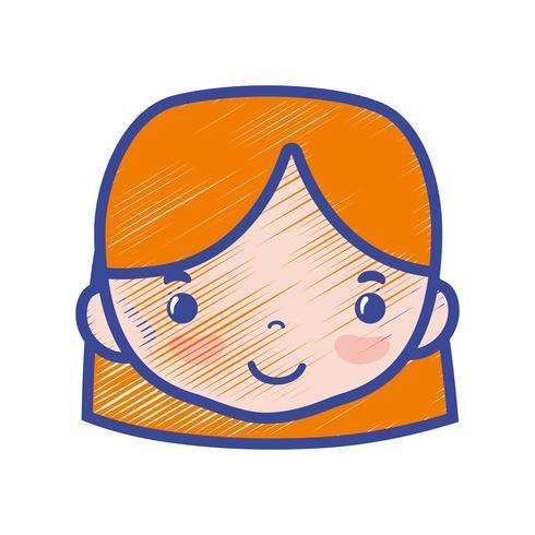 testa di donna avatar con design acconciatura