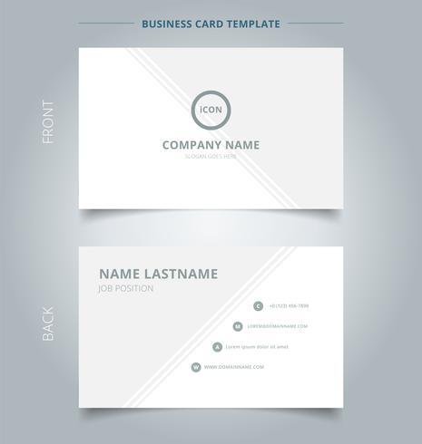Kreative Visitenkarte Und Visitenkartenvorlage Grau Und Weiß
