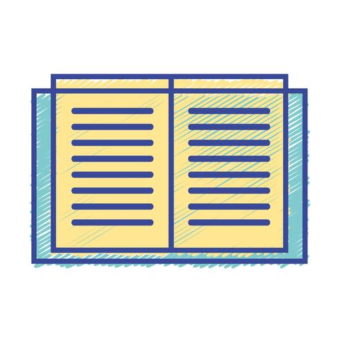 education book object to learn and study vector