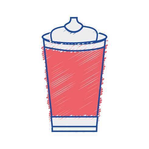 tazza di plastica deliziosa soda grattugiata fresca