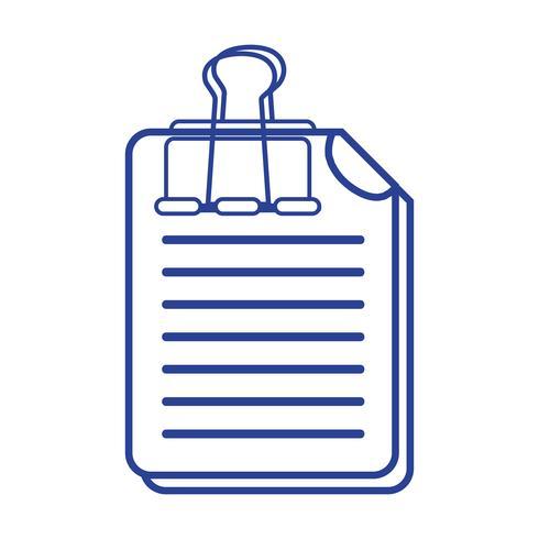 Información de línea de documentos comerciales con diseño de clip.