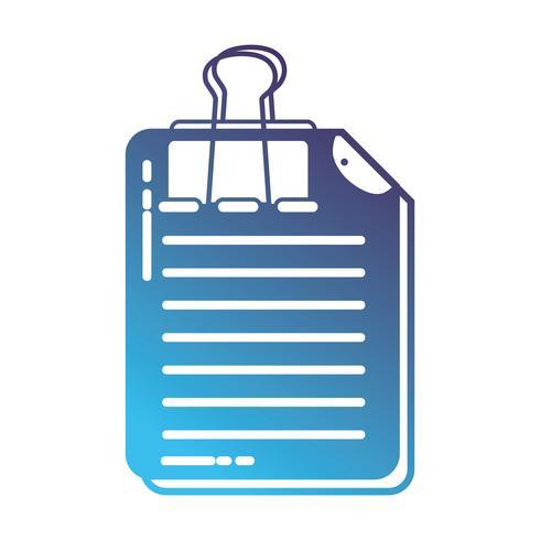 Silhouette Geschäftsdokument Informationen mit Clip-Design