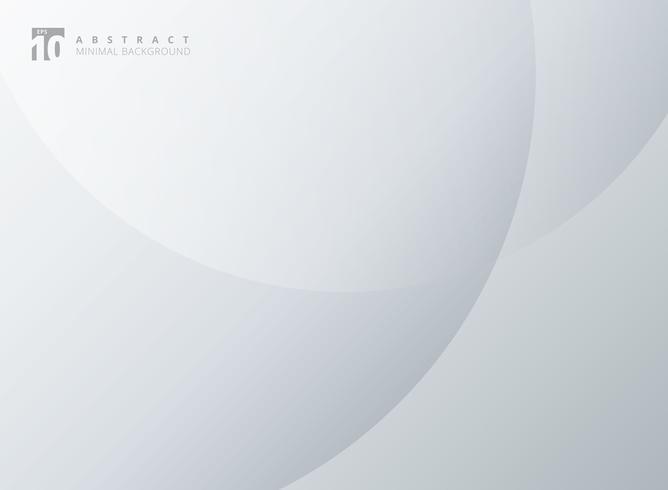 Cercles abstraits simples superposent fond élégant moderne minimaliste blanc et gris.