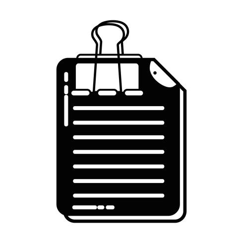 contour business document information with clip design
