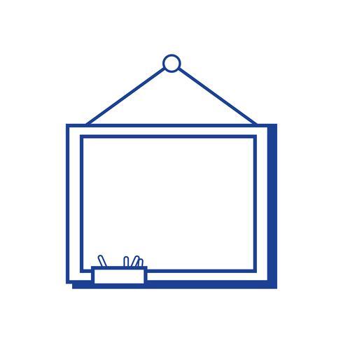 silhouet schoolbord met houten frame ontwerp
