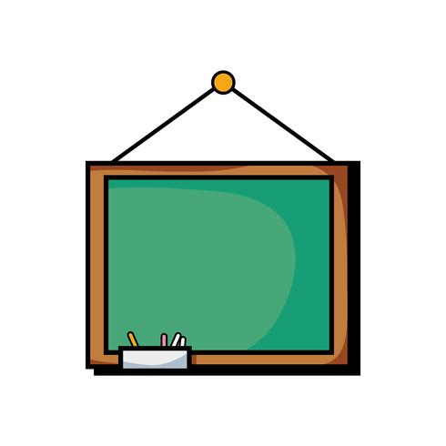 school blackboard with wood frame design