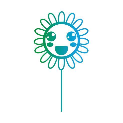 line kawaii cute happy flower