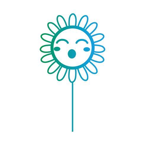 linea kawaii simpatico fiore felice