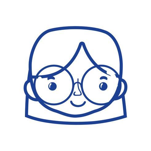 silueta de mujer cabeza de avatar con diseño de peinado