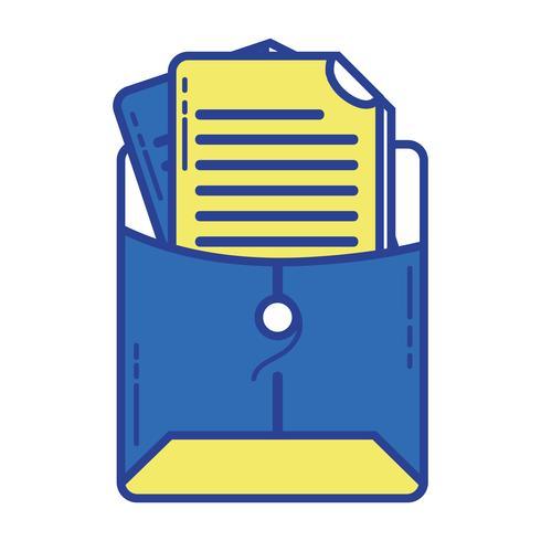 dossier avec informations sur le document commercial