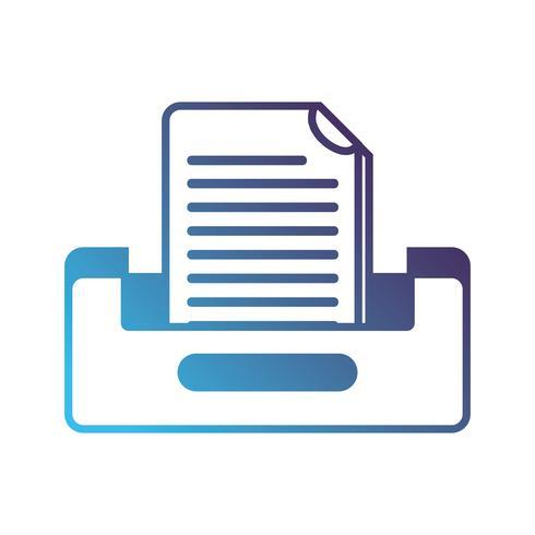 silhouette buciness document conception du classeur