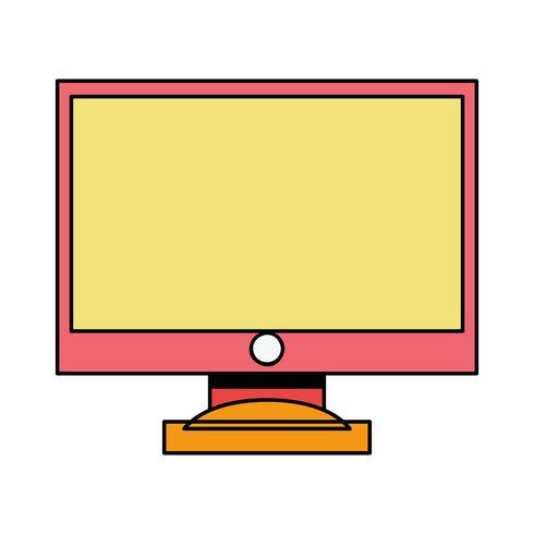 pantalla de ordenador a color tecnología electrónica