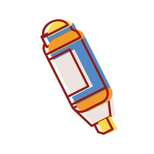 design de caneta marca-texto para informações importantes do documento