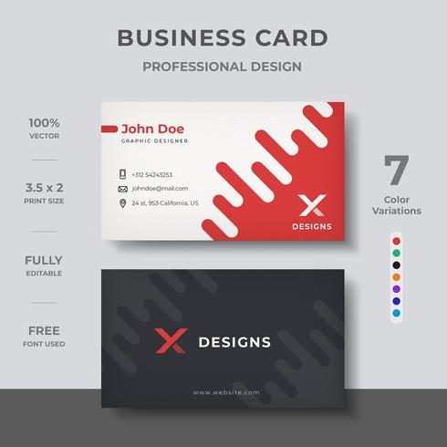 Diseño de tarjeta de visita con estilo