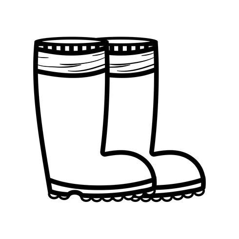 stivali di gomma linea oggetto ai piedi di protezione vettore