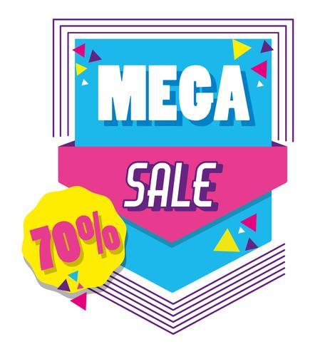 Mega sale memphis style poster